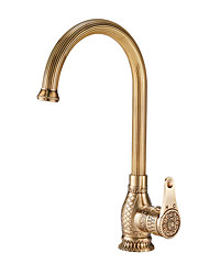 cheap -Kitchen faucet - Single Handle One Hole Bronze Standard Spout / Tall / ­High Arc Vessel / Brass