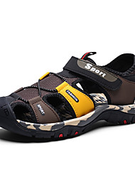 cheap -Men's Comfort Shoes Mesh Spring & Summer Casual Sandals Breathable Black / Red / Black / Yellow