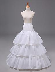 cheap -Bride Classic Lolita 1950s Layered Dress Petticoat Hoop Skirt Crinoline Women's Girls' Tulle Costume White Vintage Cosplay Party Performance Princess