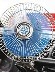 cheap -6 inch Car Fan Adjustable speed Rotatable Large amount of wind Low Noise Clip Fan 12/24V