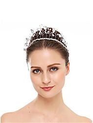 cheap -Crystal / Rhinestone / Alloy Tiaras with Rhinestone / Crystal 1 Piece Wedding Headpiece