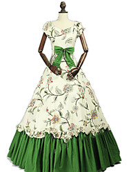 cheap -Princess Rococo Victorian Dress Party Costume Costume Women's Cotton Costume Green Vintage Cosplay Masquerade Party & Evening Sleeveless Floor Length Long Length Plus Size