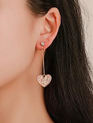 cheap -Women's Drop Earrings Dangle Earrings Heart Korean Cute Colorful Earrings Jewelry Gold For Gift Daily Street Holiday 1 Pair