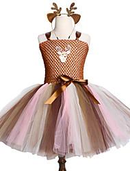 cheap -Brown Tutu Dress Girls Christmas Birthday Party Children Cute Animal Deer Costume