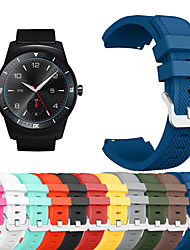 cheap -Watch Band for LG G Watch W100 / LG G Watch R W110 / LG Watch Urbane W150 LG Sport Band Silicone Wrist Strap