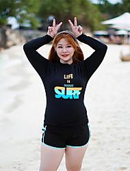 abordables -Femme Maillot De Bain Rashguard Maillots de Bain Chaud Protection solaire UV Plongée Mosaïque Automne Printemps Eté / Elastique