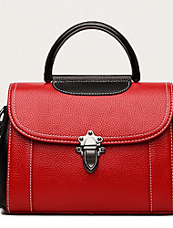 cheap -Women's Nappa Leather Tote Solid Color Green / Black / Red