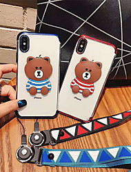 cheap -Case For Apple iPhone XS / iPhone XR / iPhone XS Max Plating Back Cover Cartoon Soft TPU