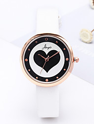 cheap -Women's Quartz Watches Heart shape Fashion White Green Blushing Pink TPU Chinese Quartz Sky Blue Yellow Peach Casual Watch Lovely 1 pc Analog One Year Battery Life