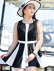 abordables -Femme Robes de Natation Maillots de Bain Protection solaire UV Sans Manches Natation Plongée Sports aquatiques Mosaïque Eté