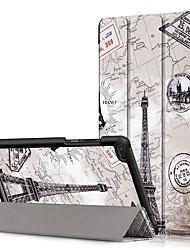 Недорогие -Кейс для Назначение Lenovo Lenovo Tab E8 (TB-8304F) / Lenovo Tab E7 (TB-7104) / Lenovo Tab 7 Essential Защита от удара / Флип / Оригами Чехол Пейзаж Твердый Кожа PU
