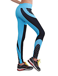 cheap -Women's High Rise Yoga Pants Color Block Modal Running Fitness Gym Workout Tights Activewear Breathable Butt Lift Tummy Control Power Flex High Elasticity Skinny