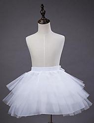 cheap -Princess Fairytale Ballet Dancer Classic Lolita 1950s Vacation Dress Dress Petticoat Hoop Skirt Tutu Crinoline Women's Girls' Tulle Costume White Vintage Cosplay Party Performance Short Length