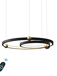 cheap -New Design Ring Pendant Light for Living Room Coffee Bar/ Aluminum Cord Adjustable/ Warm White/ White/Dimmable with Remote Control