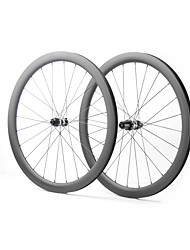 cheap -FARSPORTS 700CC Wheelsets Cycling 26 mm Road Bike Carbon Fiber Clincher / Tubeless Compatible 24/24 Spokes 35 mm / 40 mm