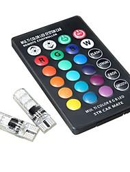 cheap -2pcs T10 / W5W Car Light Bulbs 1.32 W SMD 5050 6 LED Tail Lights / Brake Lights / Reversing (backup) Lights For universal All years