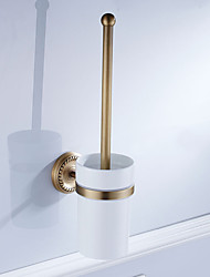 cheap -Toilet Brush Holder New Design Modern / Contemporary Ceramic / Brass 1pc Wall Mounted