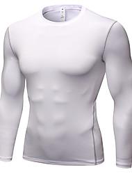 Недорогие -YUERLIAN Муж. Компрессионная футболка Фиолетовый Белый Черный Красный Зеленый Бег Фитнес Тренировка в тренажерном зале Футболка Основной слой Длинный рукав Спорт Спортивная одежда / Быстровысыхающий