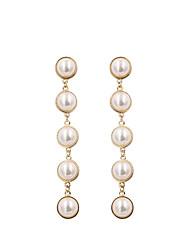 cheap -Women's Drop Earrings Earrings Dangle Earrings Long Dangling Classic Korean Sweet Imitation Pearl Earrings Jewelry Gold / Silver For Gift Daily Street Work Festival 1 Pair
