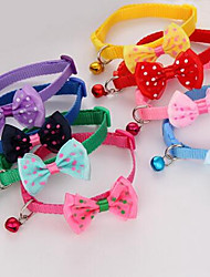 cheap -Cat Collar Adjustable Size Cute Bowknot Fabric Purple Red