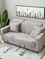 cheap -Slipcovers Sofa Cover Cotton Blend/ Yarn Dyed Polyester/ Animal/Penguin Pattern/ Light Grey Couch Cover