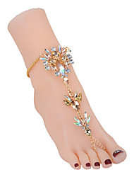 cheap -Ankle Bracelet European Women's Body Jewelry For Daily Geometrical Rhinestone Imitation Diamond Alloy Creative Gold Blue White 1pc