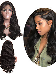 cheap -Human Hair Wig Medium Length Body Wave Side Part Party Women Best Quality Lace Front Brazilian Hair Women's Black#1B 18 inch 20 inch 22 inch