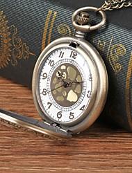 cheap -Men's Pocket Watch Quartz Bronze Hollow Engraving Casual Watch Analog Vintage Skeleton - Bronze