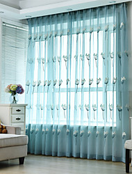 cheap -Gyrohome Grommet Top Wear Rod Hook 1pc Dandelion Embroider Voile Curtain GYV1057 Drape Window Children Door *Customizable* Living Room Bedroom Dining Room Balcony Children