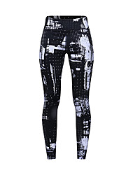 cheap -Women's High Waist Yoga Pants Cropped Leggings Breathable Quick Dry Moisture Wicking Black Nylon Non See-through Gym Workout Running Fitness Sports Activewear High Elasticity Slim