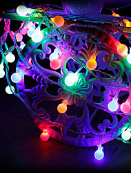 cheap -3m String Lights 20 LEDs 1 set Warm White RGB White Creative Party Decorative AA Batteries Powered