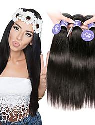 cheap -6 Bundles Peruvian Hair Straight Unprocessed Human Hair Natural Color Hair Weaves / Hair Bulk Extension Human Hair Extensions 8-28 inch Natural Color Human Hair Weaves Odor Free Soft Silky Human Hair