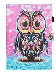 cheap -Case For Huawei Huawei Mediapad T5 10 Card Holder / Shockproof / Flip Full Body Cases Animal Hard PU Leather