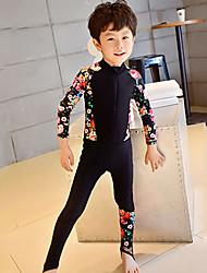 abordables -Garçon Combinaison Fine Combinaisons Protection solaire UV Coque Intégrale Natation Plongée Peinture Eté / Micro-élastique / Enfant