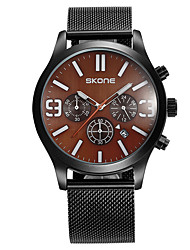 cheap -SKONE Men's Sport Watch Japanese Quartz Outdoor Calendar / date / day Analog Black / Rose Gold Black Brown / Two Years / Stainless Steel / Two Years