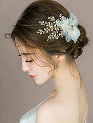 cheap -Alloy Hair Clip with Flower 1 pc Wedding Headpiece