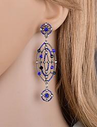 cheap -Women's Cubic Zirconia Drop Earrings Dangle Earrings European Trendy Fashion Earrings Jewelry Dark Blue For Party Carnival Holiday Festival 1 Pair