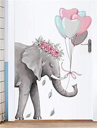 cheap -Creative simple elephant wall stickers porch corridor wall stickers dormitory bedroom door stickers decorations self-adhesive wallpaper