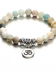 cheap -Women's Bead Bracelet Yoga Bracelet Yoga Letter Classic Vintage Stone Bracelet Jewelry Cool White For Daily Street Work Bikini