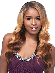 cheap -Synthetic Wig Curly Side Part Wig Long Brown / Burgundy Synthetic Hair 28 inch Women's Fashionable Design Women Synthetic Brown