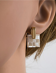 cheap -Women's Multicolor Stud Earrings Clip on Earring Geometrical European Shell Silver Earrings Jewelry Gold / Light Gold For Daily 1 Pair