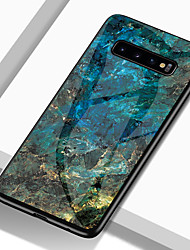 cheap -Phone Case For Samsung Galaxy Back Cover S9 S9 Plus S8 Plus S8 S7 edge S7 S10 S10 + Galaxy S10 E Shockproof Pattern Marble Hard TPU Tempered Glass