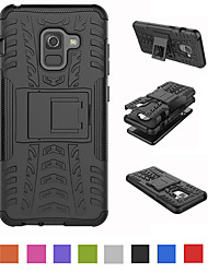 cheap -Phone Case For Samsung Galaxy Back Cover J8 (2018) J6 J6 Plus J4 (2018) J4 Plus Shockproof with Stand Armor Armor Hard TPU PC