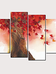 cheap -Print Rolled Canvas Prints - Landscape Love & Hearts Classic Modern Four Panels Art Prints