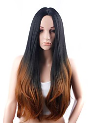 cheap -Synthetic Wig Body Wave Kardashian Free Part Wig Ombre Very Long Black / Brown Synthetic Hair 30 inch Women's Classic Easy to Carry Easy dressing Ombre / Natural Hairline / Natural Hairline
