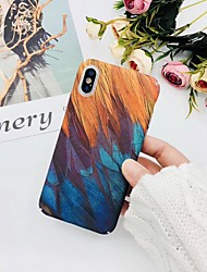 cheap -Case For Hot model  Apple iPhone XR  iPhone XS Max Pattern Back Cover Feathers Hard Plastic  for iPhone 6   6 Plus   6s  6s plus 7 8 7plus  8plus  X  XS XR XS MAX
