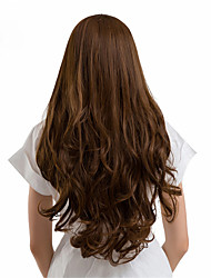 cheap -Synthetic Wig Curly Natural Wave Side Part Wig Medium Length Long Brown Synthetic Hair 26 inch Women's Synthetic New African American Wig Brown / Doll Wig / For Black Women