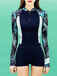 abordables -Femme Combinaison Fine Combinaisons Protection solaire UV Manches Longues Boyleg - Natation Plongée Peinture Eté / Micro-élastique