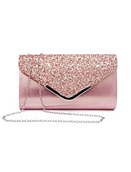 cheap -Women's Sequin PU(Polyurethane) / PU Evening Bag Solid Color Black / Blushing Pink / Gold / Fall & Winter