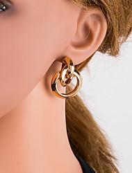 cheap -Women's Silver Gold Black Drop Earrings Geometrical European Earrings Jewelry Gold / Black / Silver For Daily 1 Pair